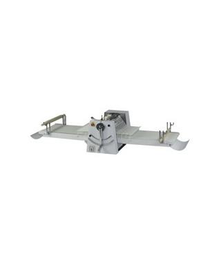 Laminadora de masa sobre ruedas, cilindros 500 mm, mesas 1000 mm, velocidad variable