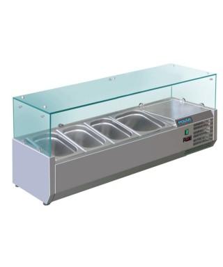 Vitrina para servir Gastronorm refrigerada 4 Polar