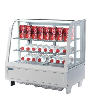 Unidad de vending refrigerada sobre mostrador blanca 100L Polar