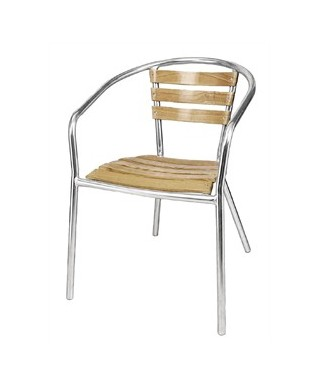 Bolero Aluminium Stacking Chairs (Pack of 4)