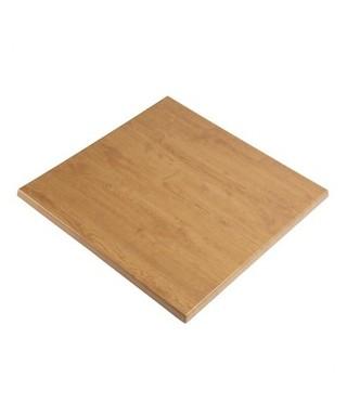Werzalit Square Table Top Italian Walnut Effect 600mm