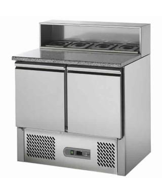 Mesa fría para pizza con 2 puertas, 5x GN 1/6, +2 °C/+8 °C