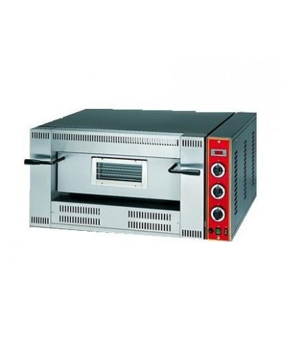 Horno pizza a gas para 6 pizzas ø 33 cm, control electrónico