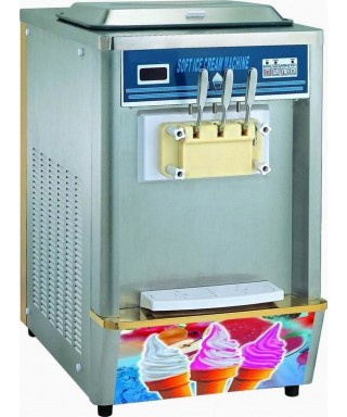 Soft ice machine with air/water condensation, capacity 2x 8 litres