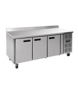 Table réfrigérée négative 3 portes avec dosseret 417L