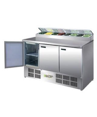 Mostrador de preparación de pizza y ensalada refrigerado 390L