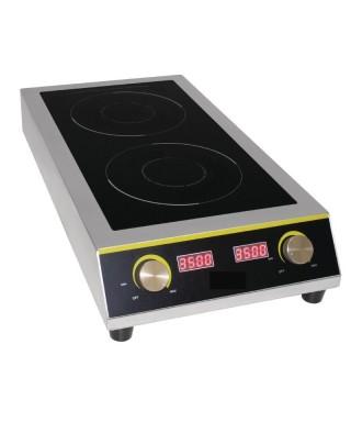 Cocina de inducción doble eléctrica uso intensivo Buffalo