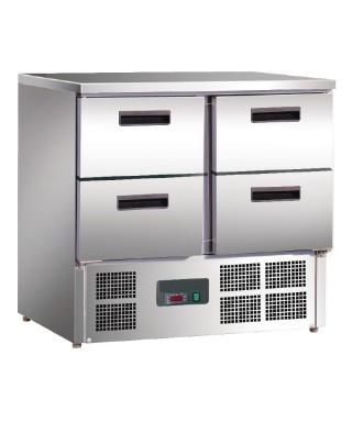 Refrigerador mostrador compacto 4 puertas 240L