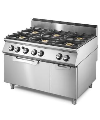 Cocinas a Gas de 6 Fuegos (28,5 kW) con Horno Eléctrico(4 kW)