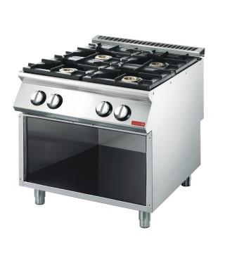 Cocinas a Gas de 4 Fuegos (19 kW) con Horno Eléctrico (3 kW)