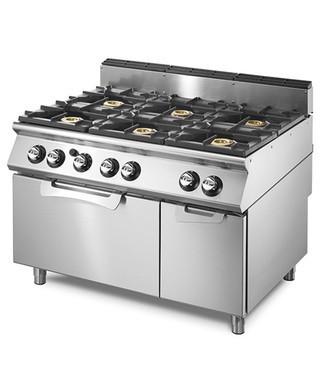 Cocinas a gas de 6 fuegos 28 5 kw con horno el ctrico 3 for Cocina de gas con horno electrico