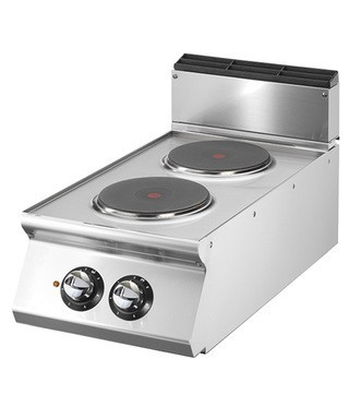 Cocina eléctrica - 2 fogones redondos (5,2 kW) incl. estructura base | Cocina | Fogones | Cocina profesional |