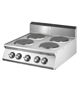 Cocina eléctrica - 4 fogones redondos (10.4 kW) incl. estructura base | Cocina | Fogones | Cocina profesional |