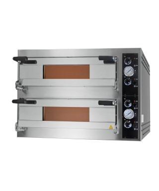 Horno pizza eléctrico para 6+6 pizzas ø 35 cm, control digital