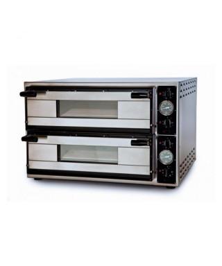 Horno pizza eléctrico para 6 pizzas ø 35 cm, control digital