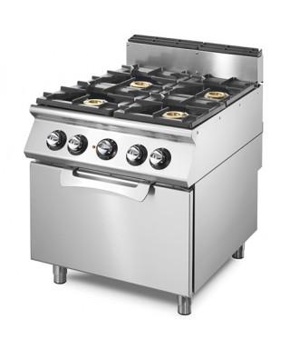 Cocina a gas profesional con horno a gas